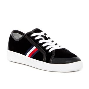 Tommy Hilfiger black velvet sneakers Twspike 8